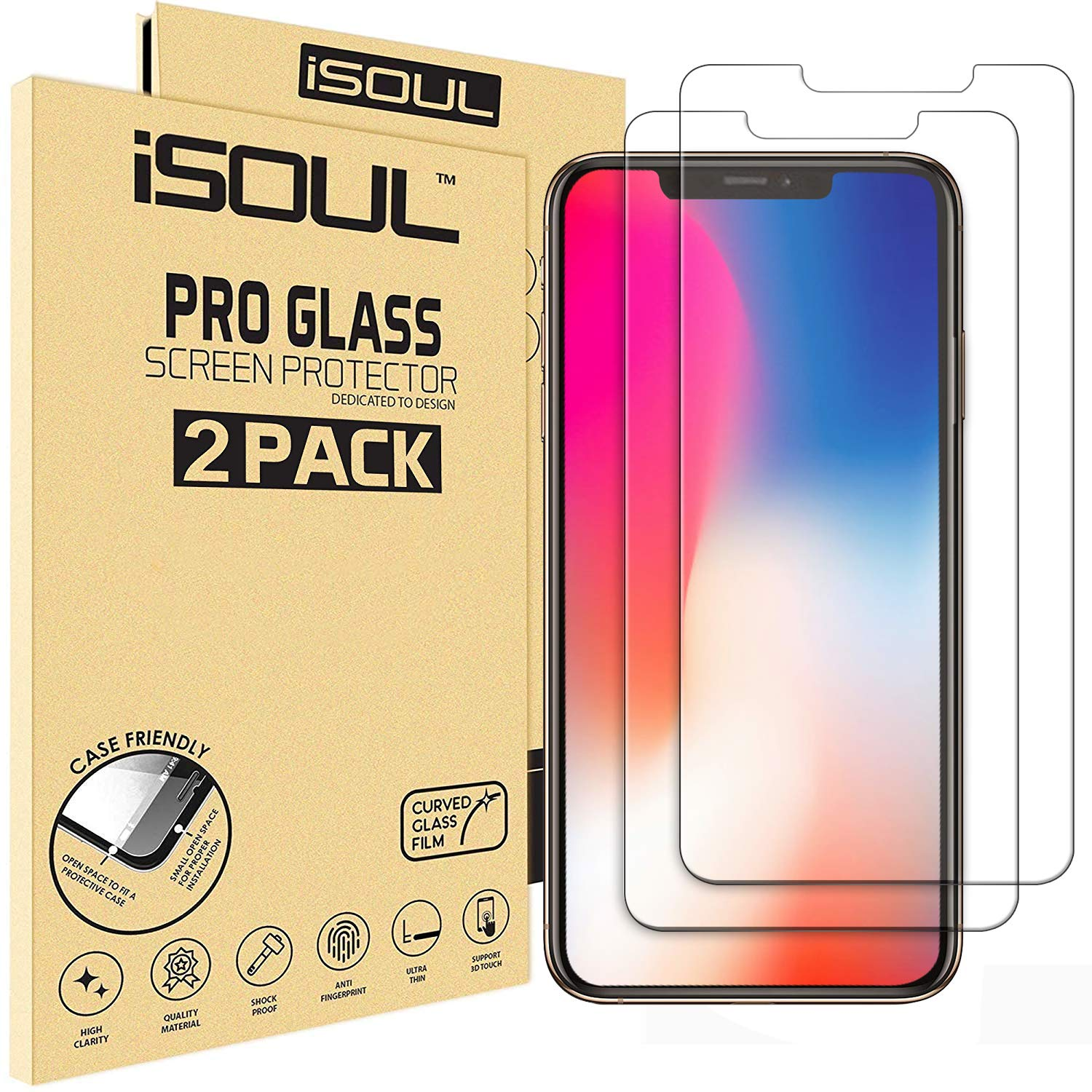 [2 Pack] Screen Protector for Apple iPhone XS Max