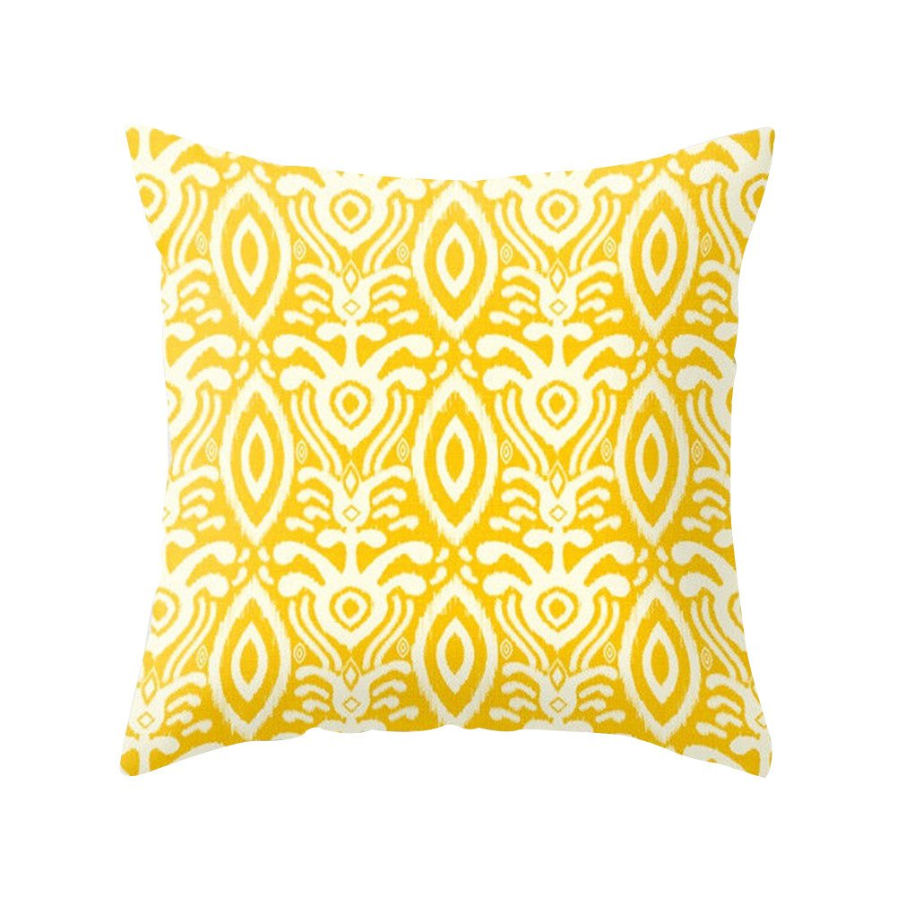 Pineapple Leaf Yellow Throw Pillow Case