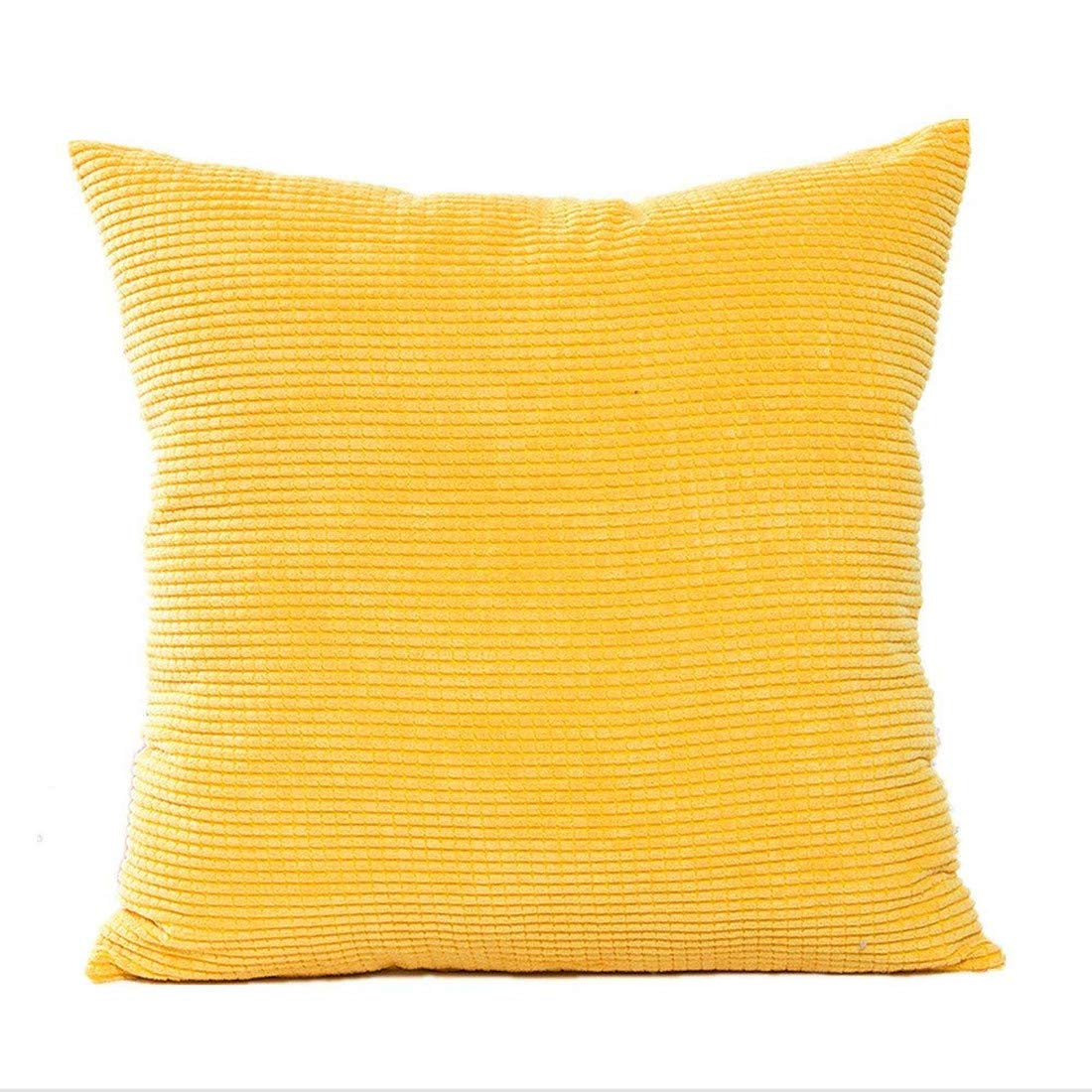 Westeng Soft Square Cushion Cover Corduroy Waist Throw Pillow Case