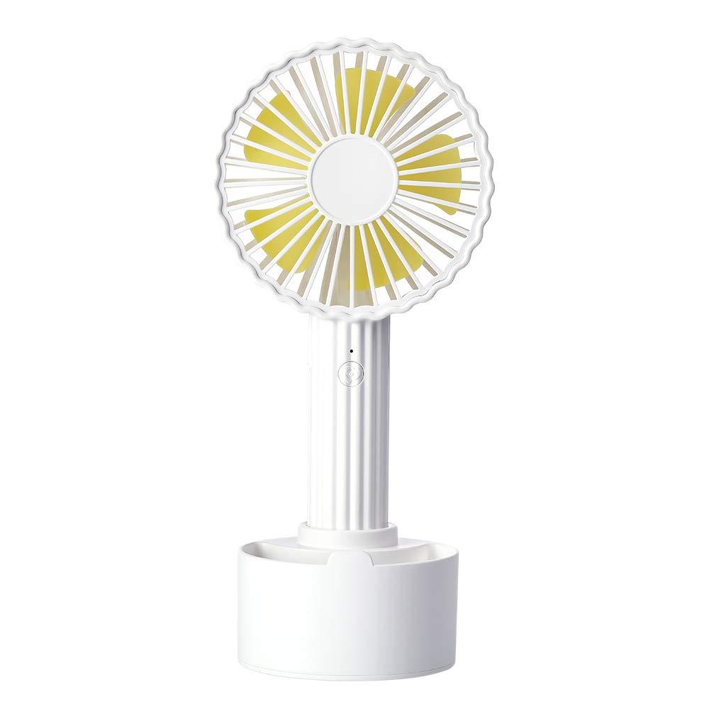 CHIHANGUOJI Portable USB Mini Fan Noiseless Table Fan Rechargeable Handled Fan 3 Speed Adjustable