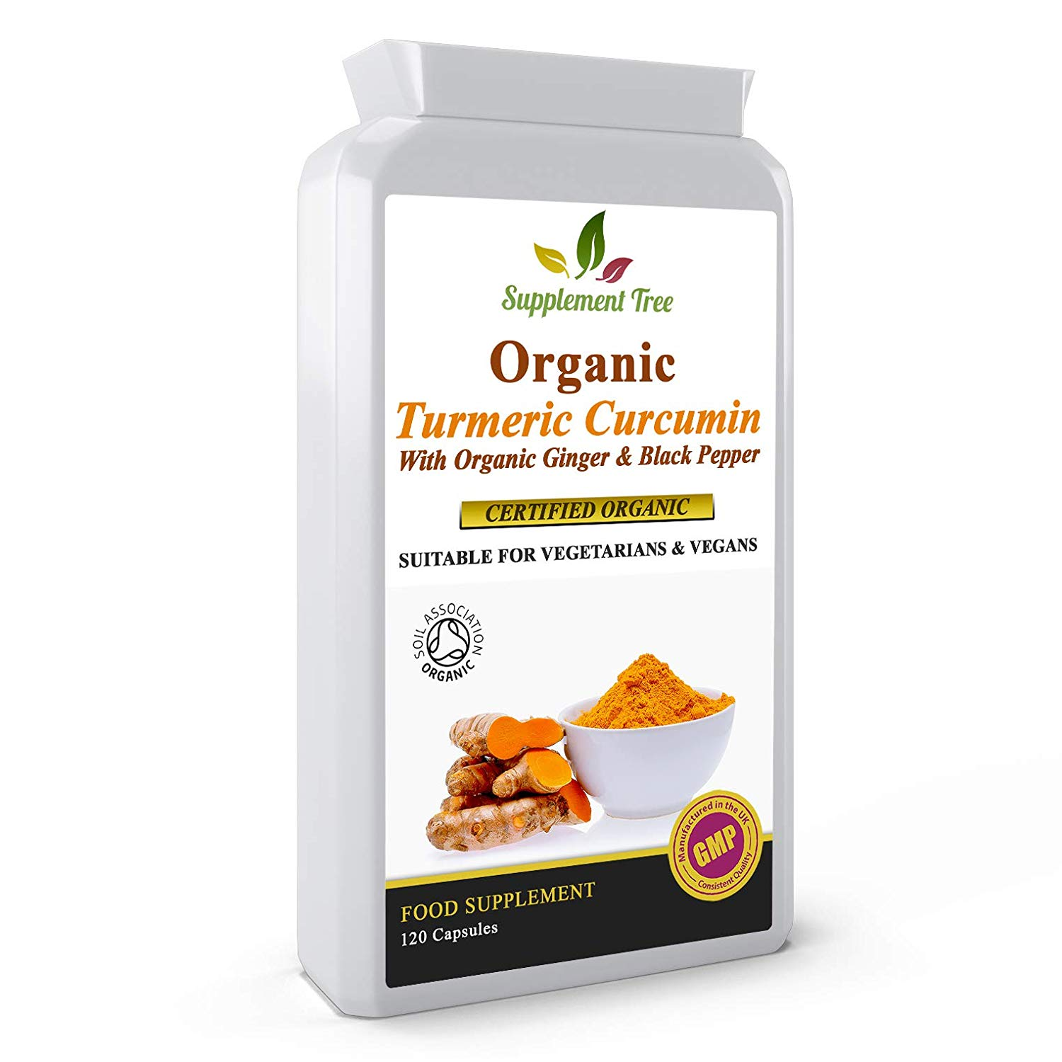 Organic Turmeric with Organic Ginger & Black Pepper 120 Capsules