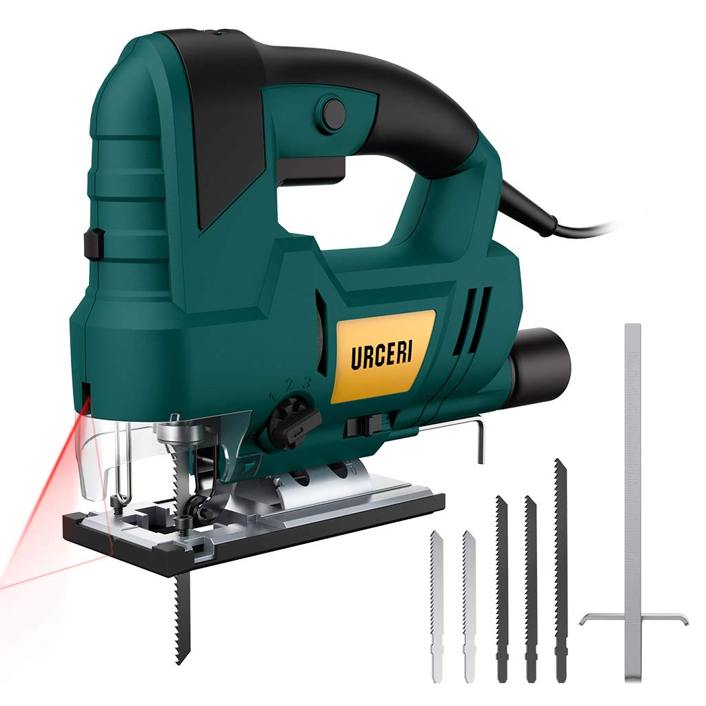 URCERI Jig Saws 810W 3000 RPM, 6 Step Speed Dial Jigsaw Tools