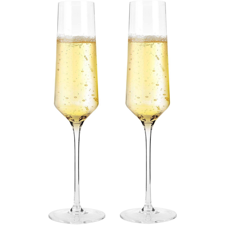 Doctor Hetzner Crystal Champagne Flute Glasses