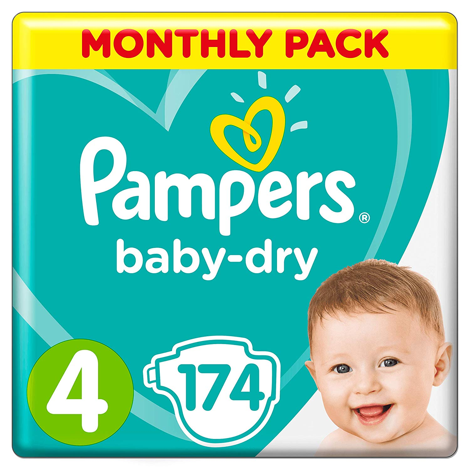 Pampers Baby-Dry, 174 Nappies, 9-14 kg
