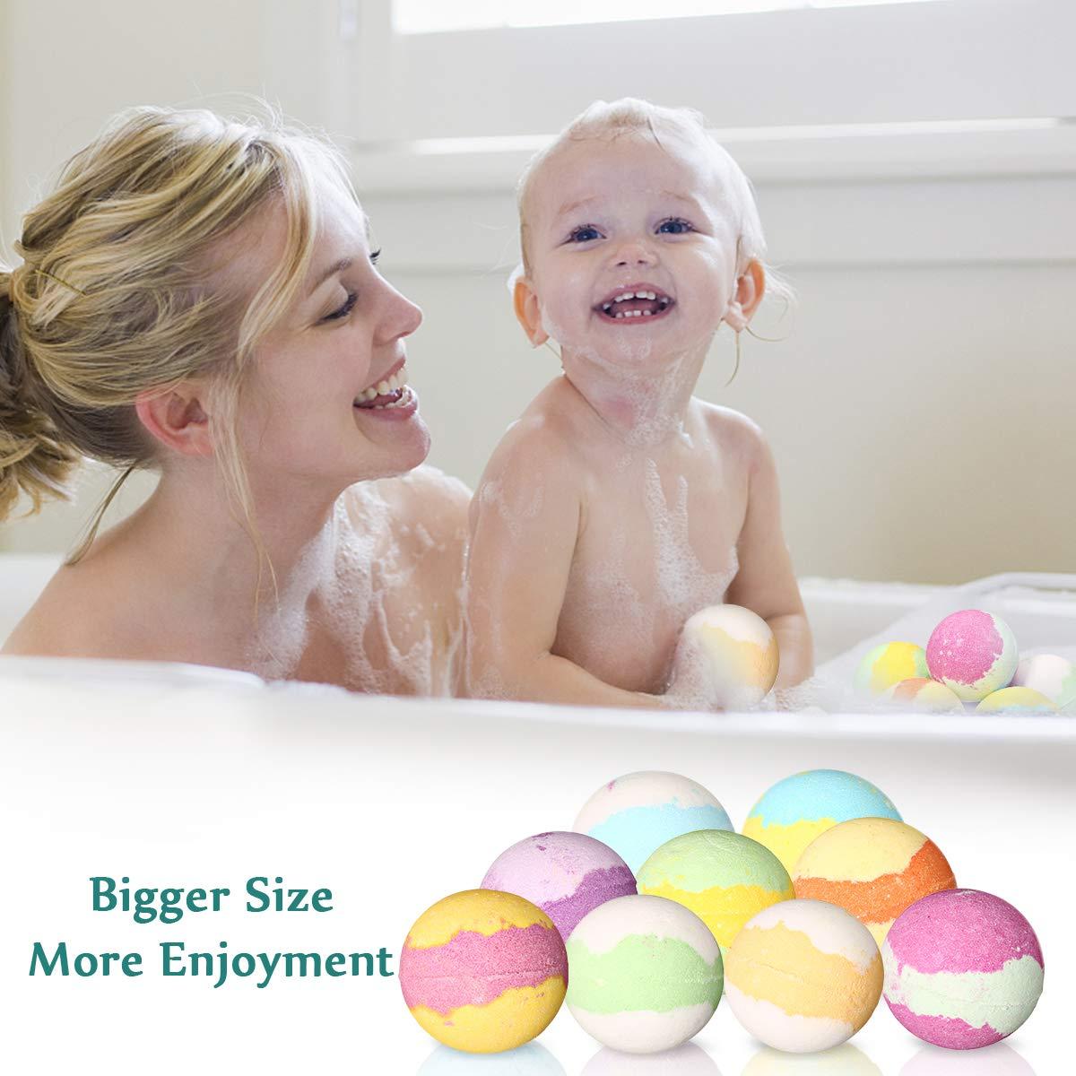 Essort Bath Bombs Gift Set, Coolroom Monopoly Factory Direct Gift Box Set 9 × 60g Effervescent Balls