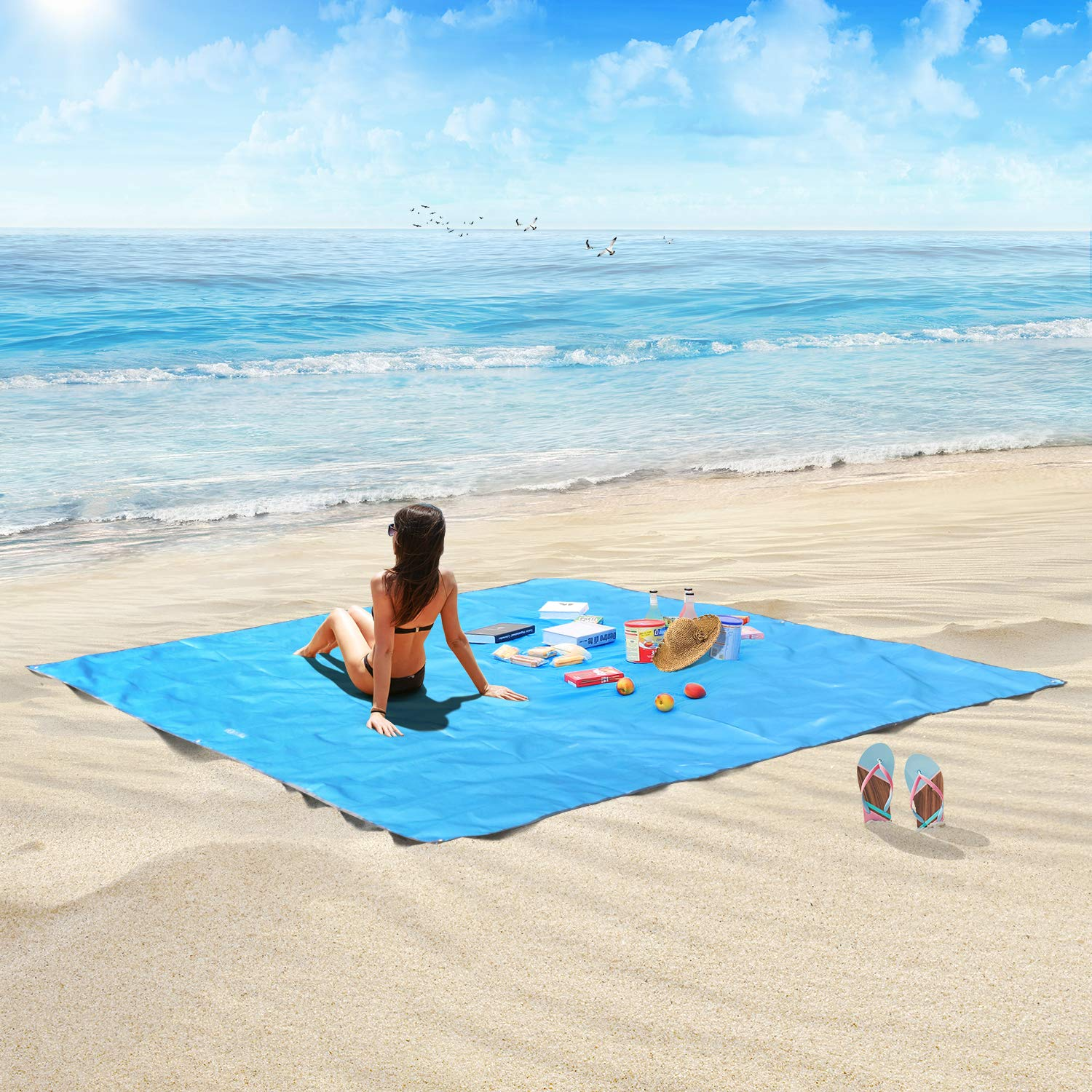 HOSPORT Beach Blanket Oxford Waterproof Picnic Blanket
