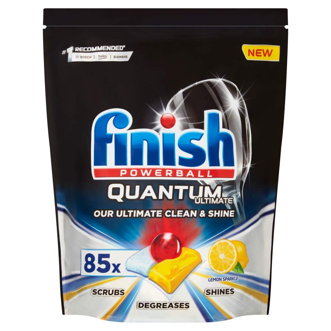 Finish Quantum Ultimate Dishwasher Tablets, 85 Tabs
