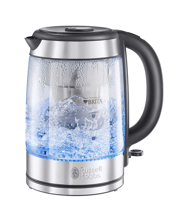 Russell Hobbs BRITA Filter Purity Glass Kettle, 3000 W, 1.5 Litre