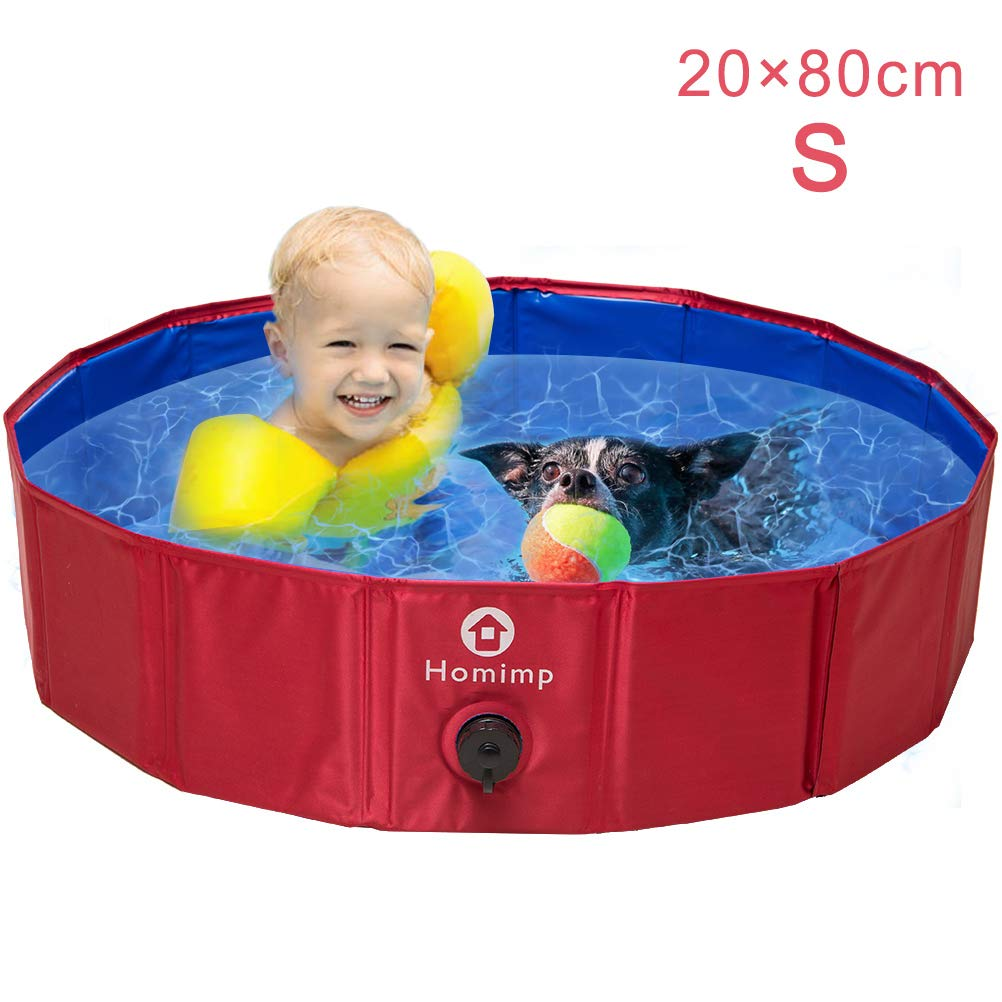 HOMIMP Dog Paddling Pool – Collapsible Pet Bathing Tub Swimming Pool for Dogs Cats and Children