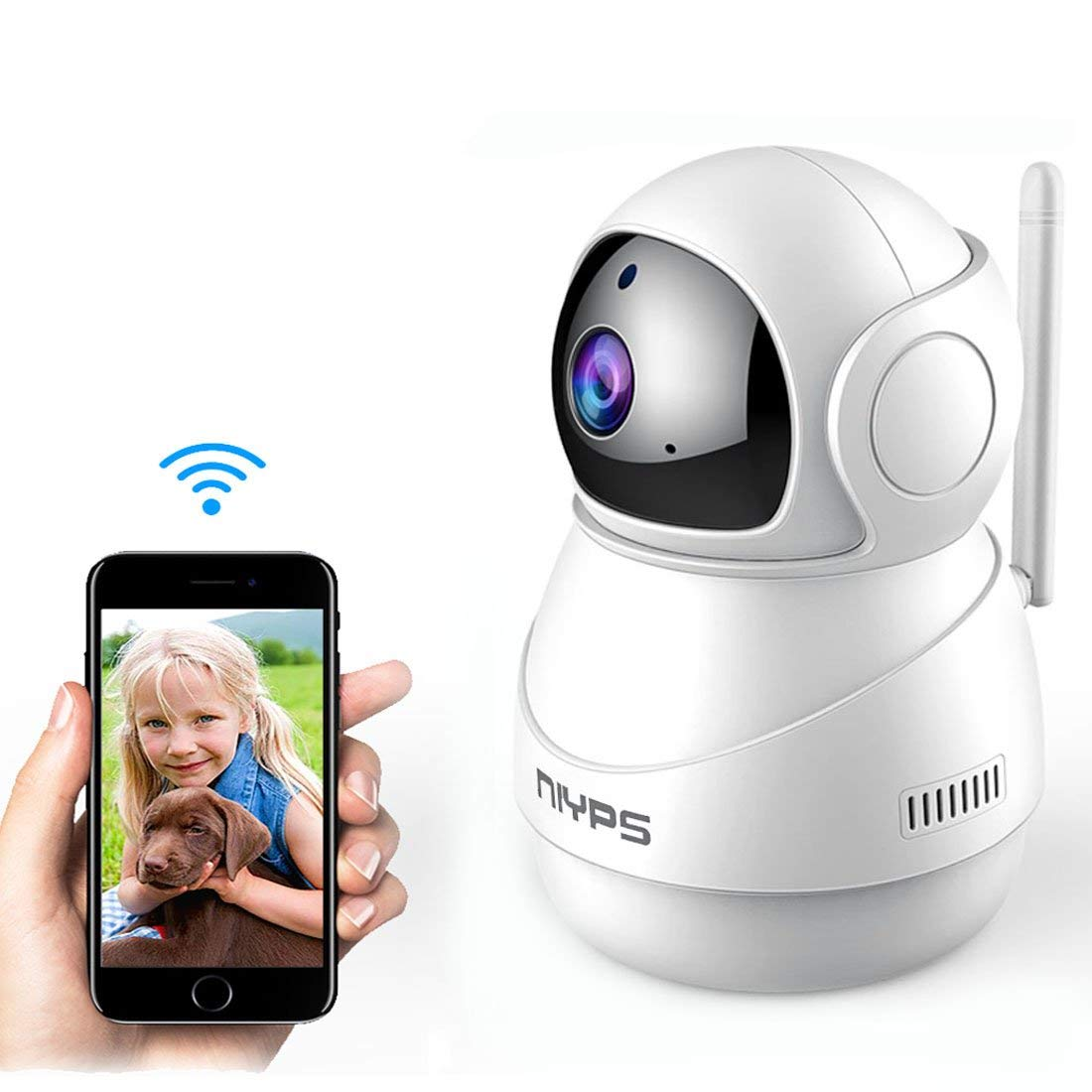 Wireless Wifi IP Camera,NIYPS HD 1080P Indoor Nanny Cam Home Security Surveillance System