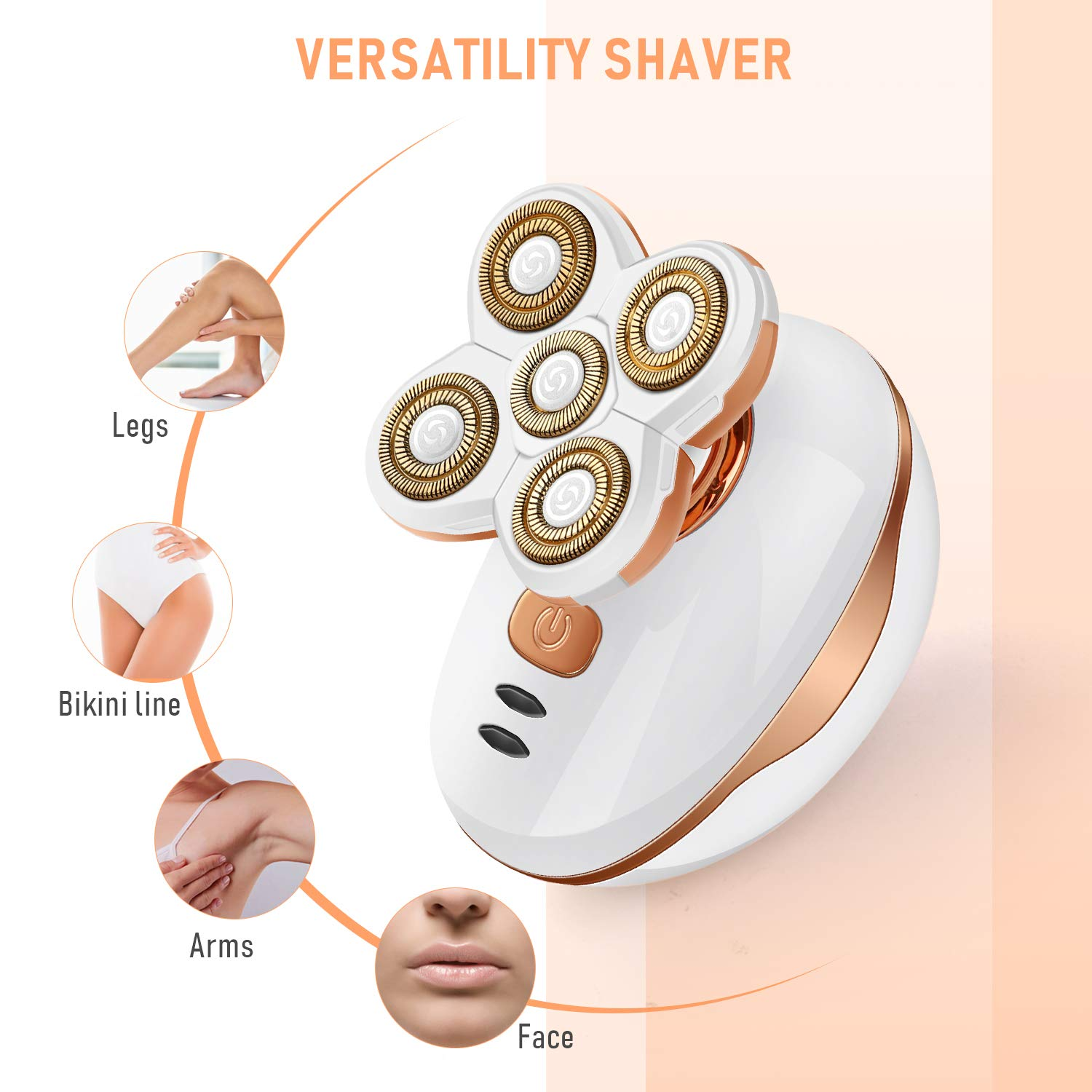 Women's Hair Remover – Liberex Electric Shaver Rechargeable Trimmer Hair Removal Razor
