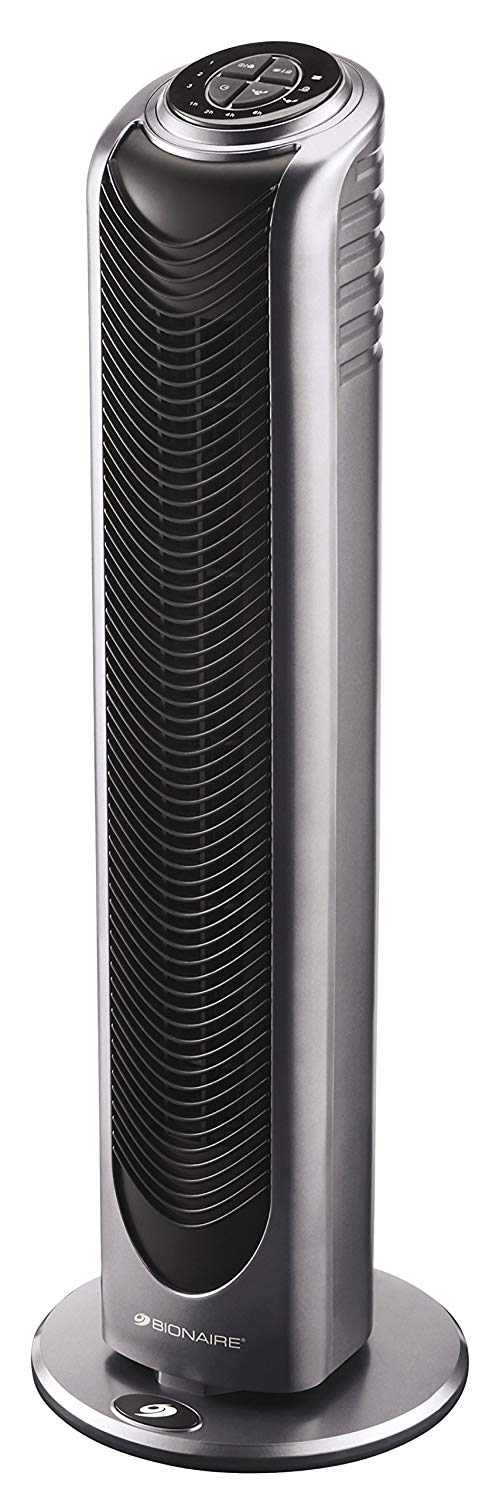 Bionaire Oscillating Tower Fan with Remote Control & Timer