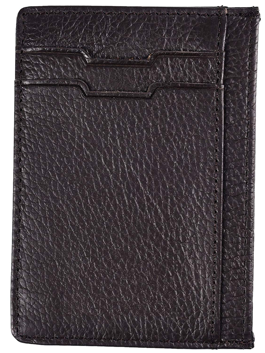 Mens Slim Wallet RFID Blocking Minimalist Genuine Leather Credit Card Holder