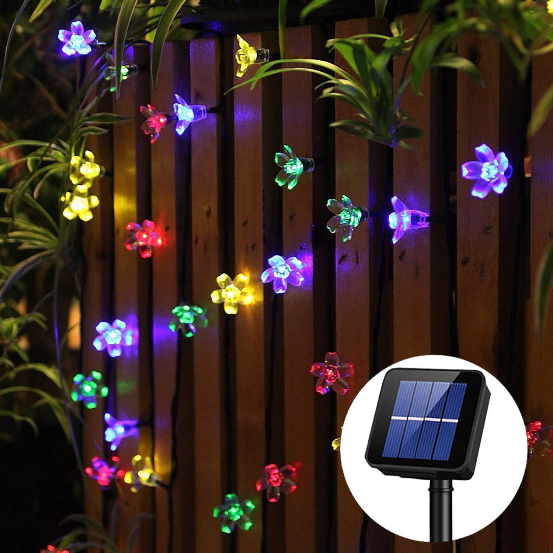 Panpany Solar Lights Outdoor, 50 LED Solar String Lights, Waterproof 22 Feet Fairy Lights Solar Powered