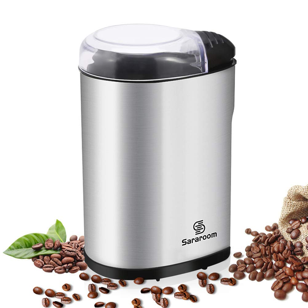 Sararoom Electric Coffee Grinder 200W for Coffee Bean