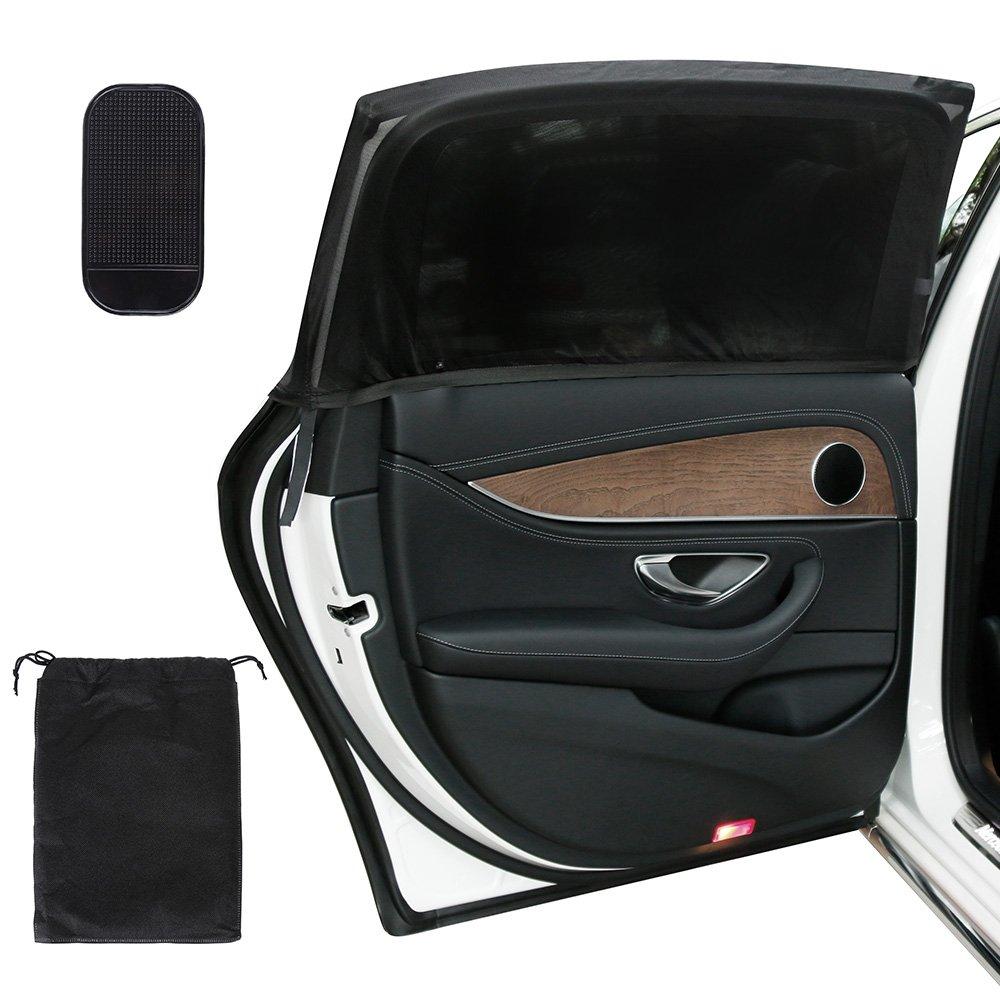 Lictin Pack of 2 Car Window Shades+ Car Phone Anti-Skid Sticky Pad