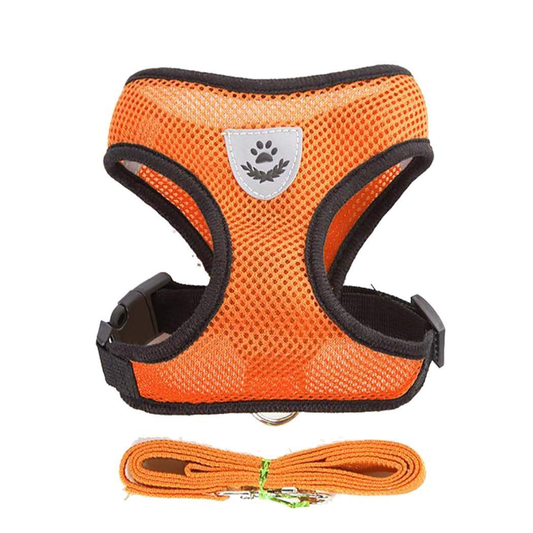 shanefre Adjustable Outdoor Pet Mesh Vest Chest Strap Dog Leash Dog Vest Harnesses