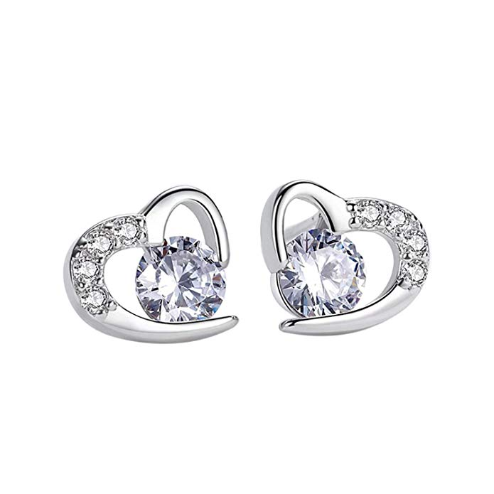 Earrings Women, Amilril Love Heart Stud Earrings