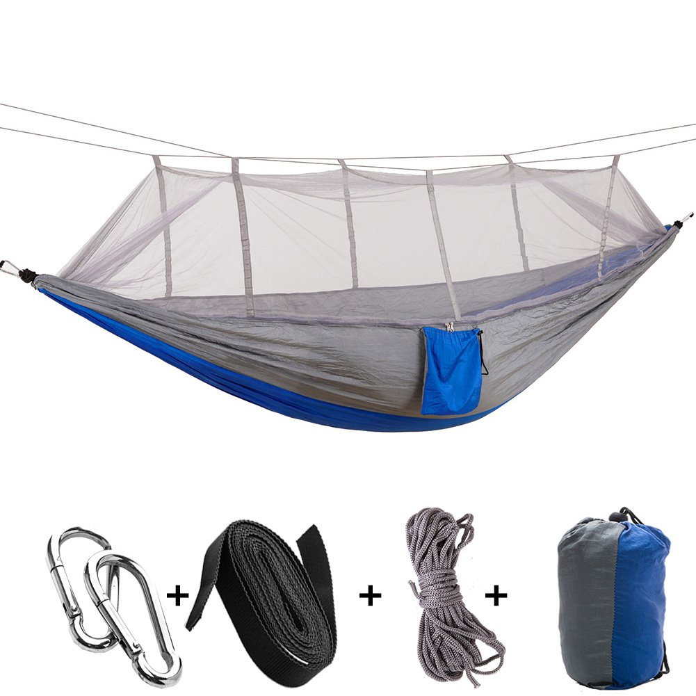 KEPEAK Single & Double Camping Hammock with Mosquito Net and Tree Straps
