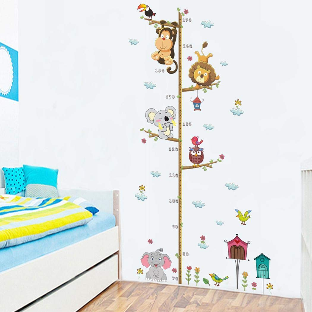 shanefre Cute Cartoon Self-Adhesive Children Height Sticker