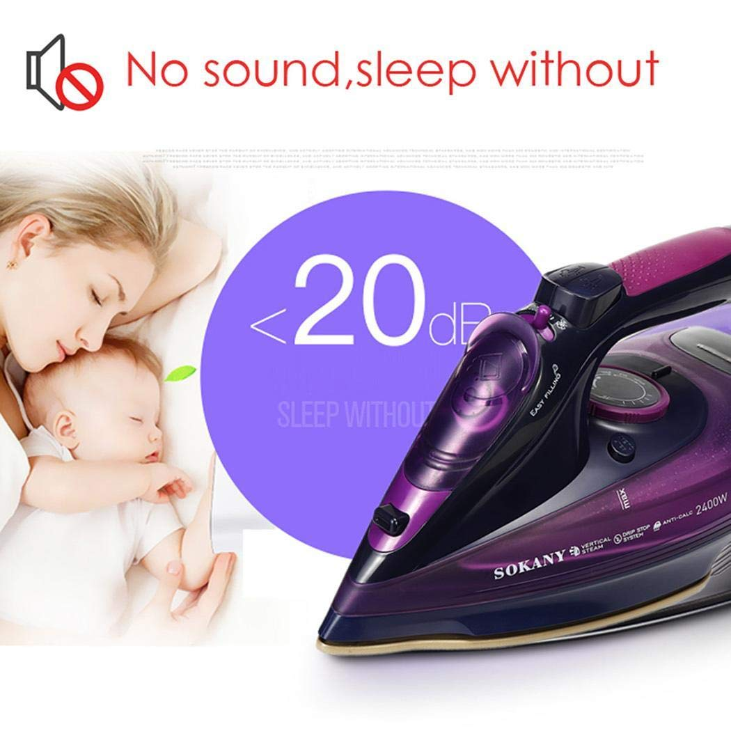 fatcatn 5 Speed Adjustment 2400W Wireless Electric Portable Clothes Steam Iron Steam Irons