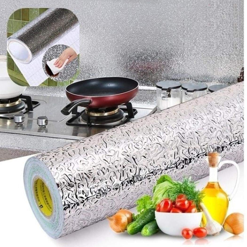 Minlop Self-adhesive Aluminum Foil Brick Stove Wall Oil Proof Decal