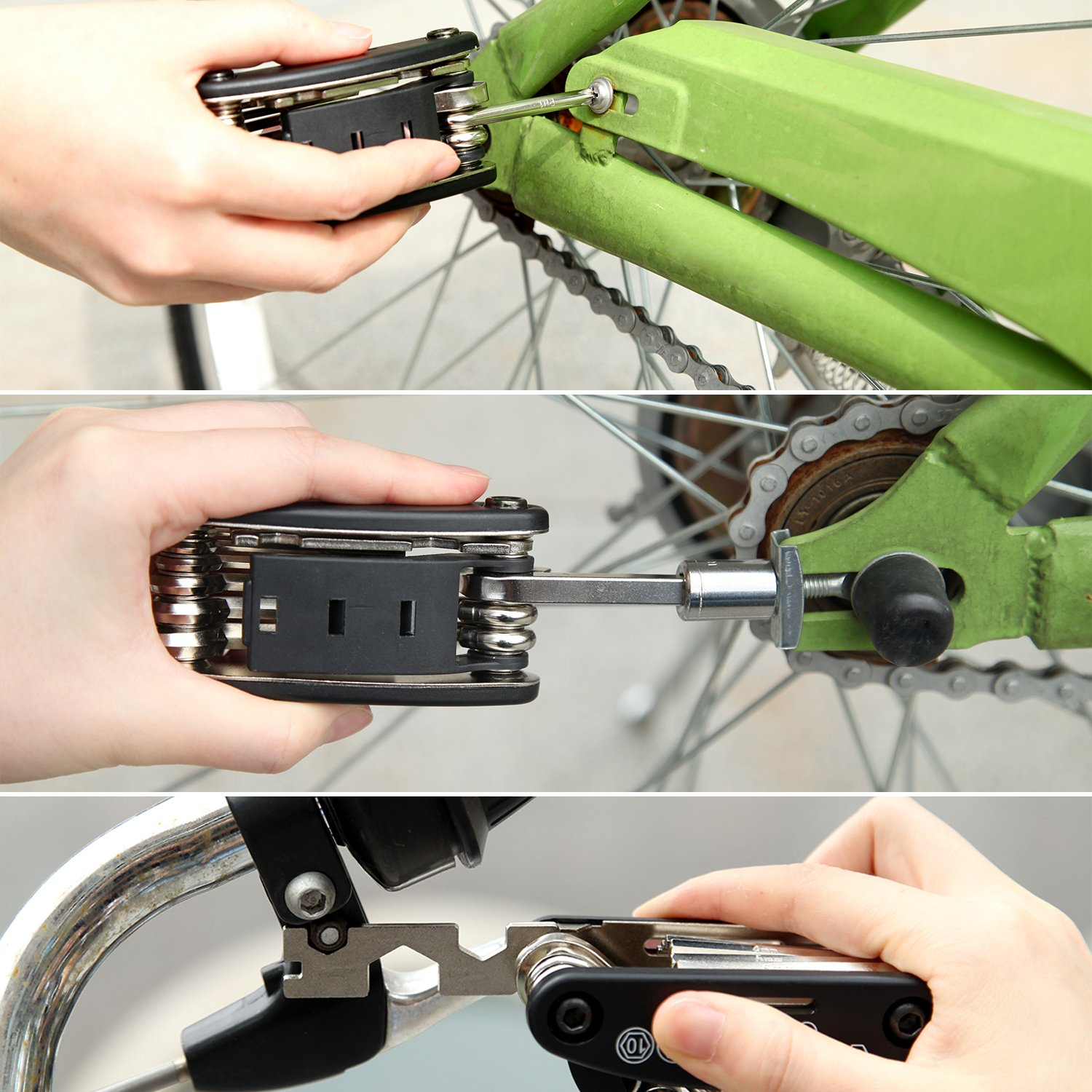 iBuger Bike Repair Kit, Bicycle 16 in 1 Multifunctional Cycling Repair Tools and Quick Puncture Tire Repair Kits for Cyclist