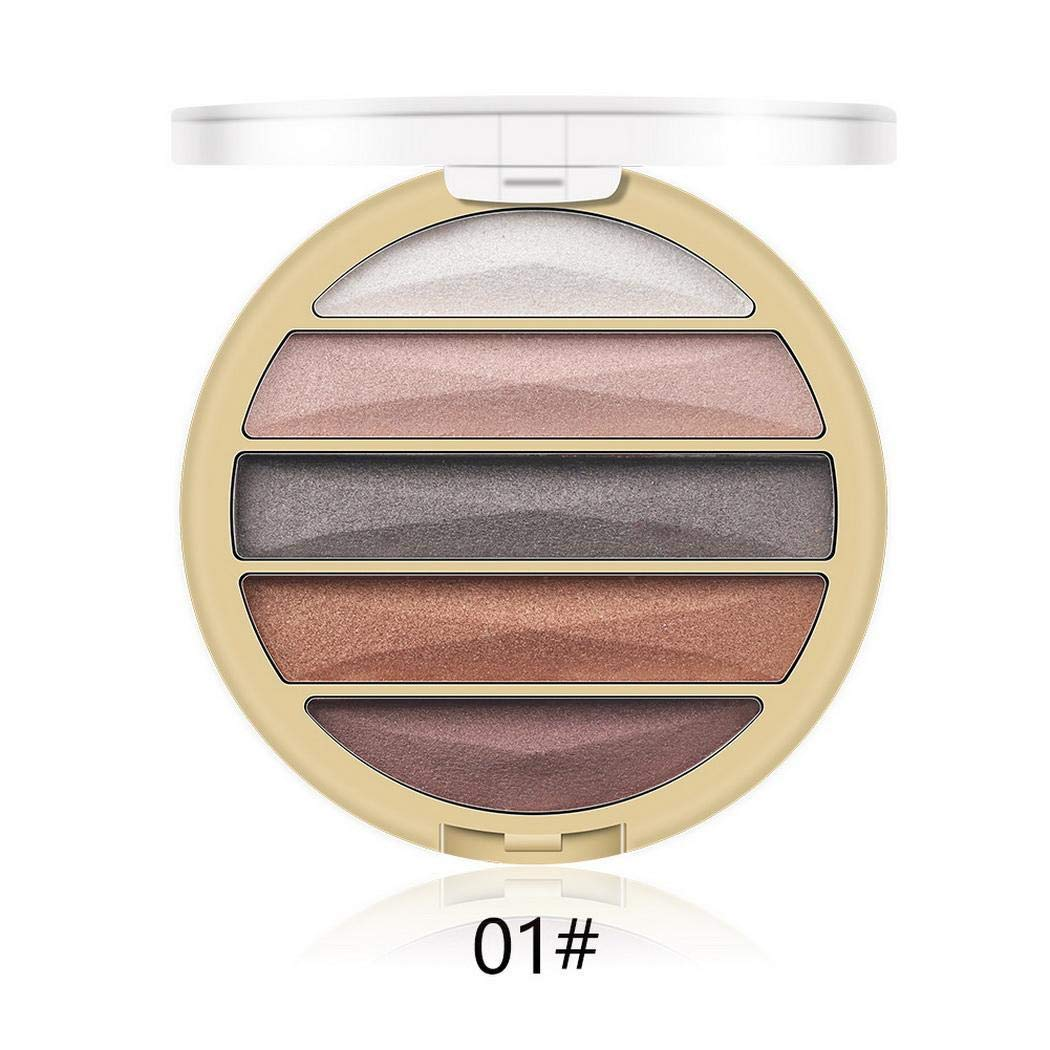 Mekolen 5 Color Eye Shadow Palette Matte Shimmer Natural Nude Makeup Pearlescent Portable Eyeshadow Powder Palette Eyeshadows