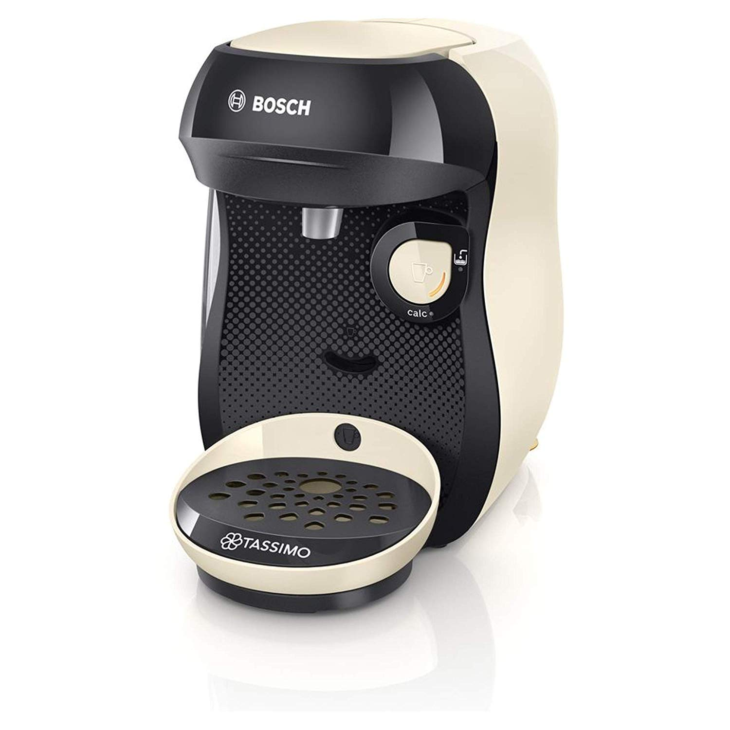 Bosch Tassimo Happy Coffee Machine, Plastic Cream