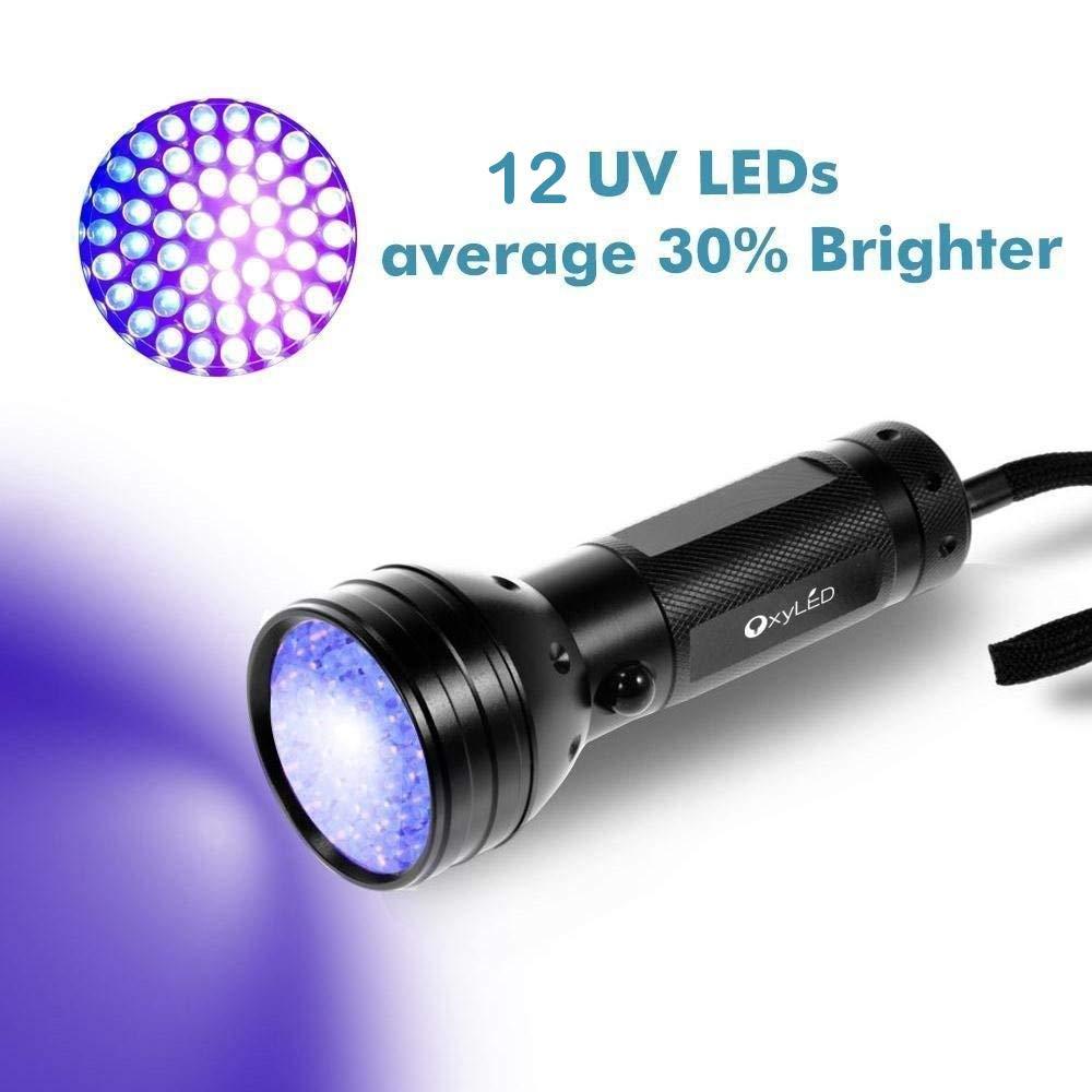 OxyLED UV Flashlight,UV Torch Blacklight