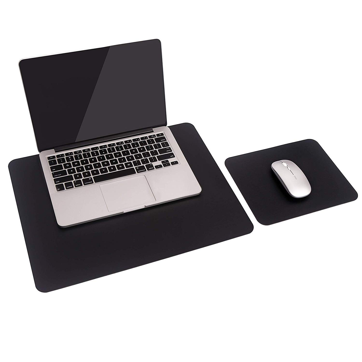 2 Pack of Mouse Pad, YSAGi Leather Desk mat Laptop Desk pad Computer Desk Mousepad Office Accessory Gift Set