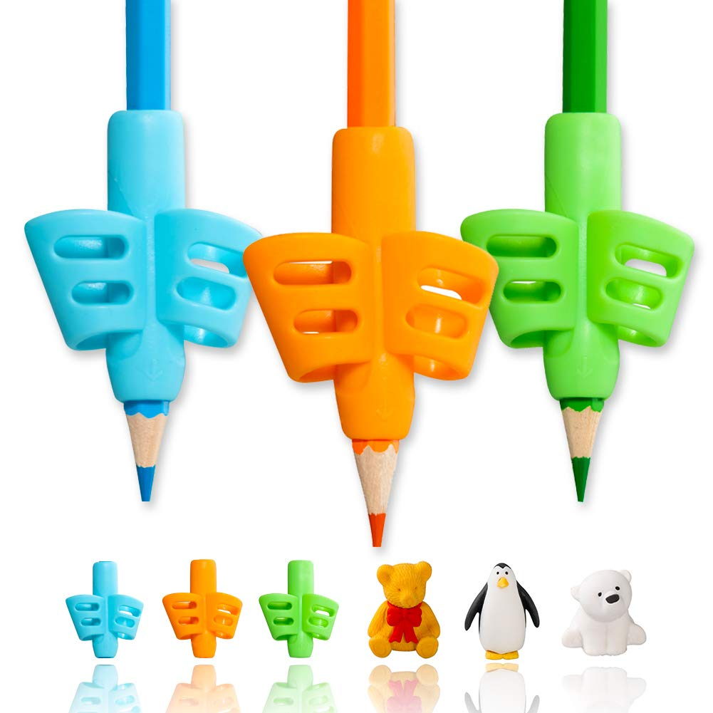 Pencil Grips,ANERZA Pencil Grips for Children Handwriting,Writing Aid Grip