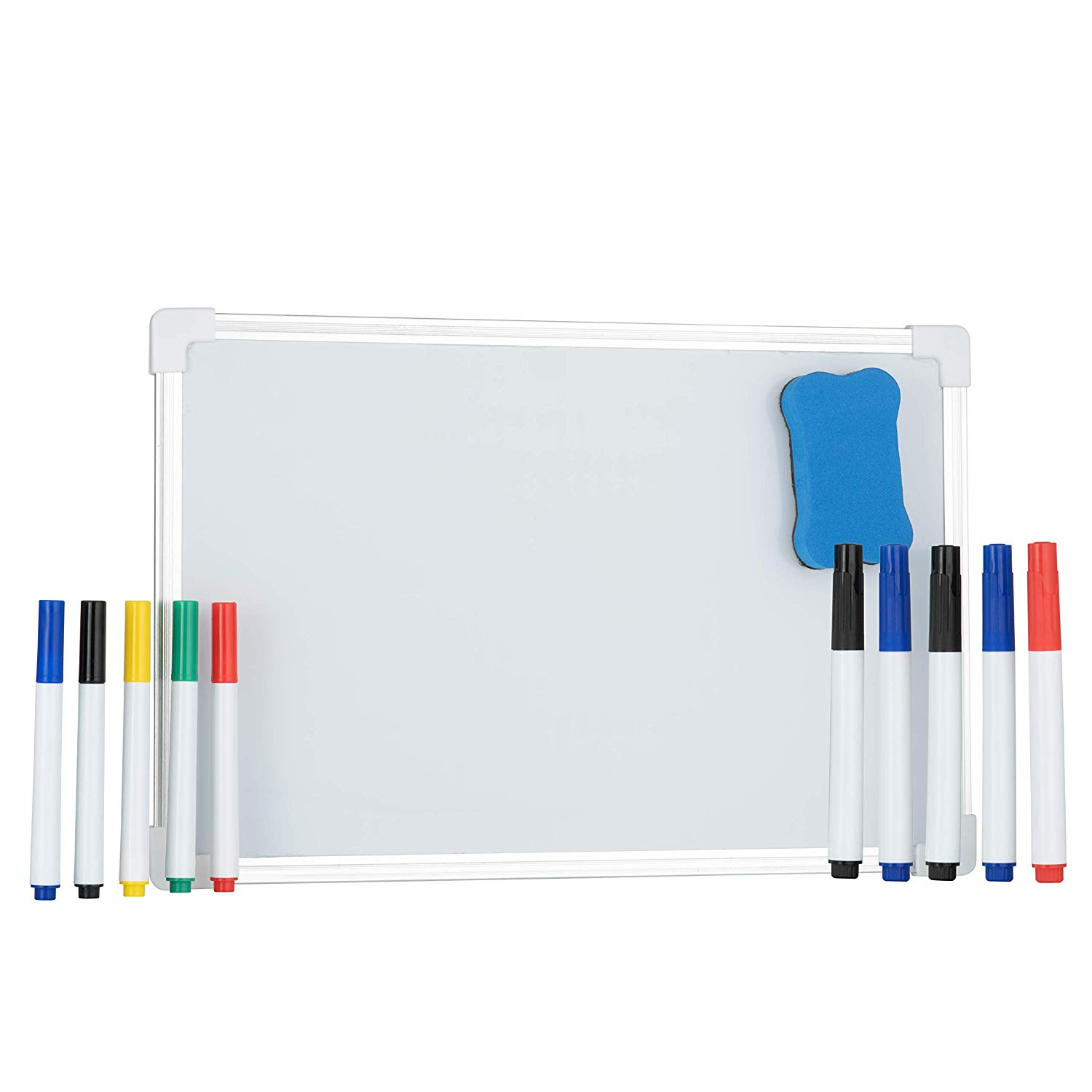 A4 Magnetic Dry Erase Whiteboard Pack Double Sided Includes Pens Eraser and Velcro