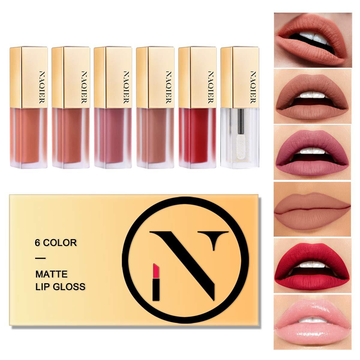 Matte Velvety Lip gloss Set, 6PCS