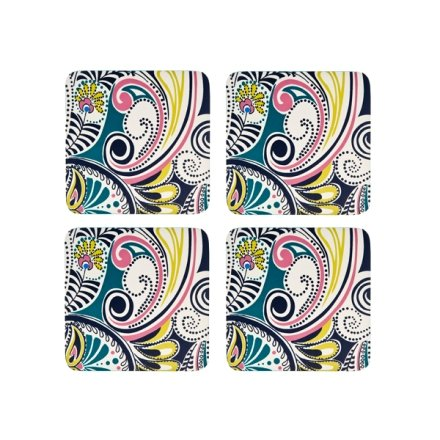 Denby Cork Backed Monsoon Cosmic Coaster Set, Set of 4