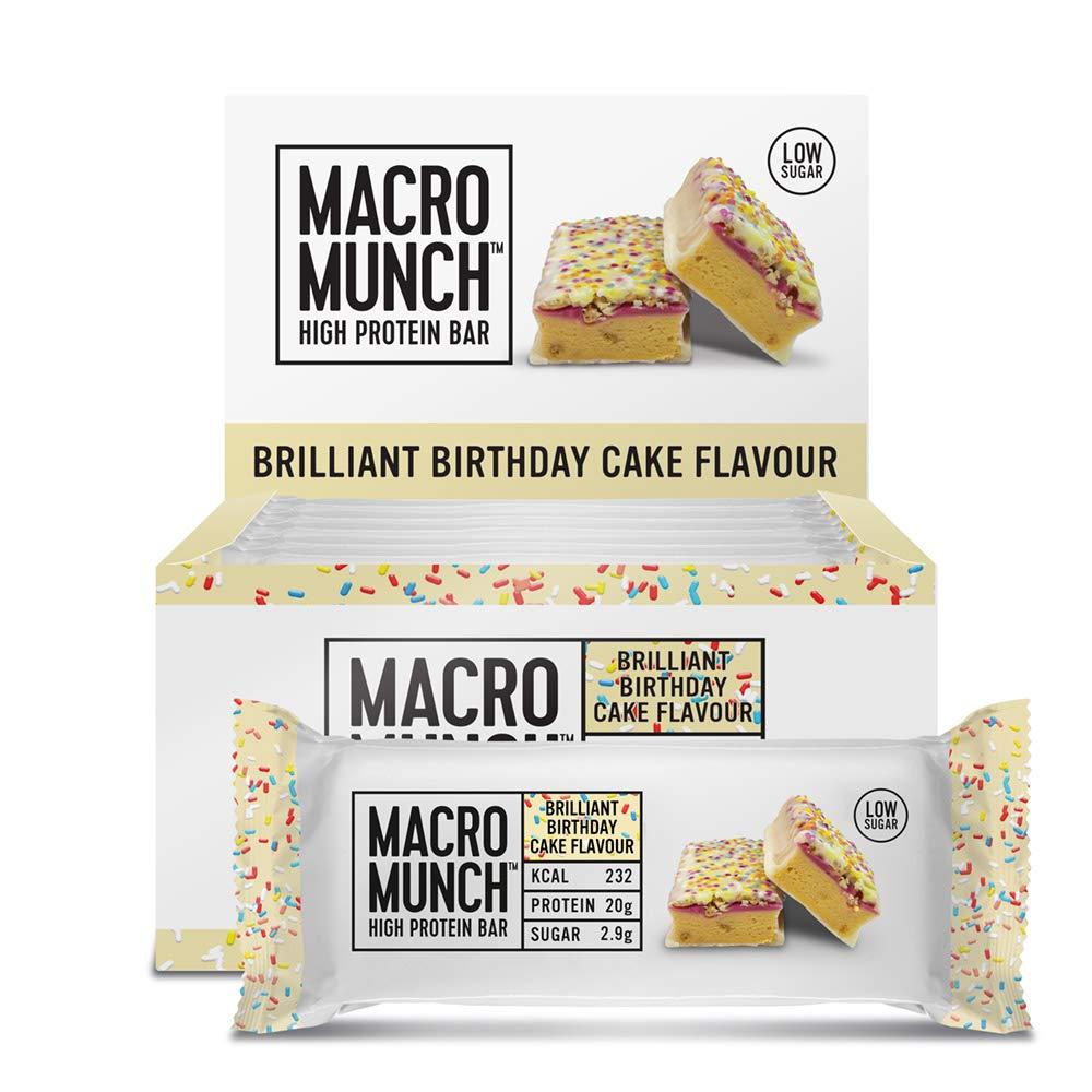 BULK POWDERS Macro Munch Protein Bar,Pack of 12