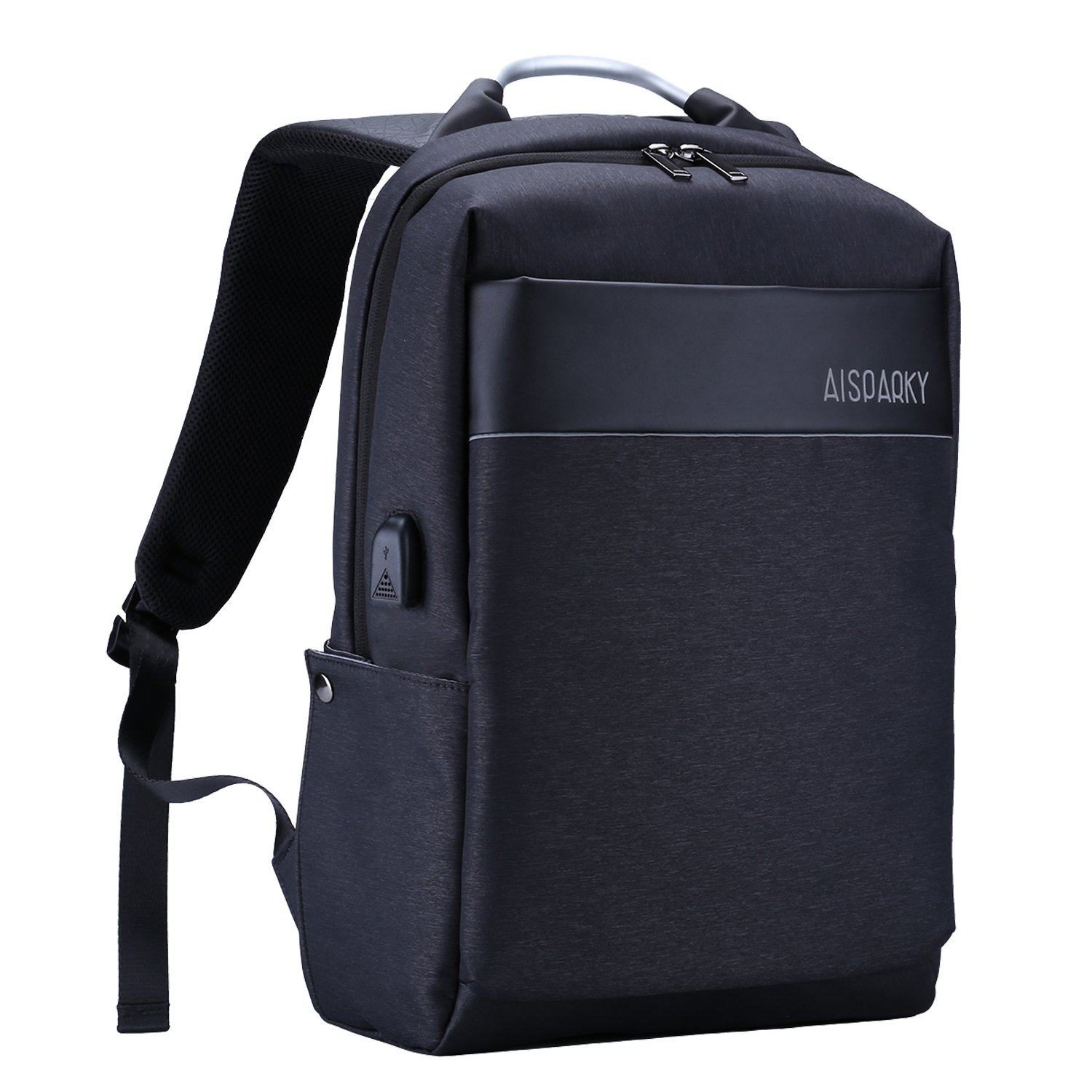 Travel Laptop Backpack, 15.6 Inch Business Computer Rucksack with USB Charging Port