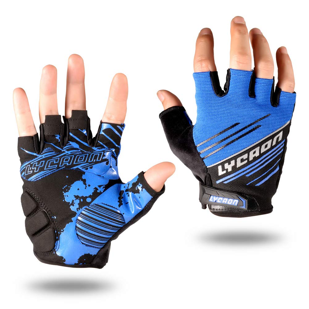 LYCAON Cycling Gloves Silicone Gel EVA Padding Cushion Touch Screen