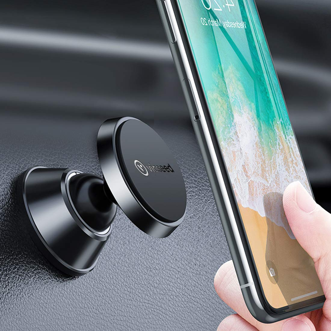 VICSEED Magnetic Phone Holder, Dashboard Car Phone Mount
