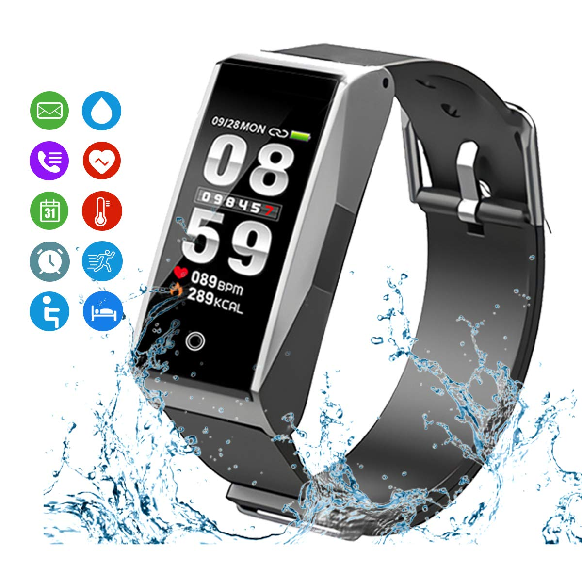 MATEYOU Fitness Tracker, Smart Watchs Color Screen Activity Tracker Fitness Watch with Heart Rate Monitor