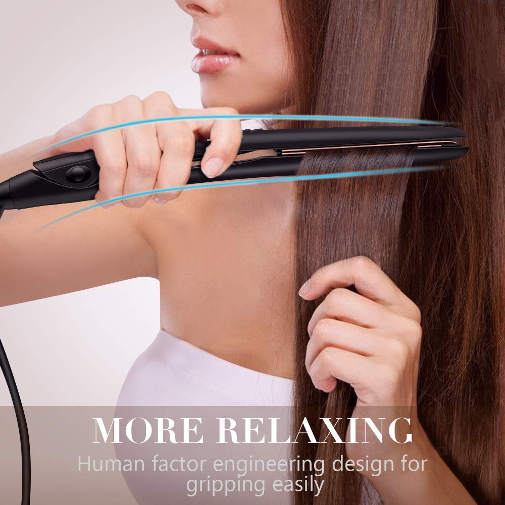 Professional Hair Straighteners Titanium Plates, Thin Flat Iron Hair Straightener