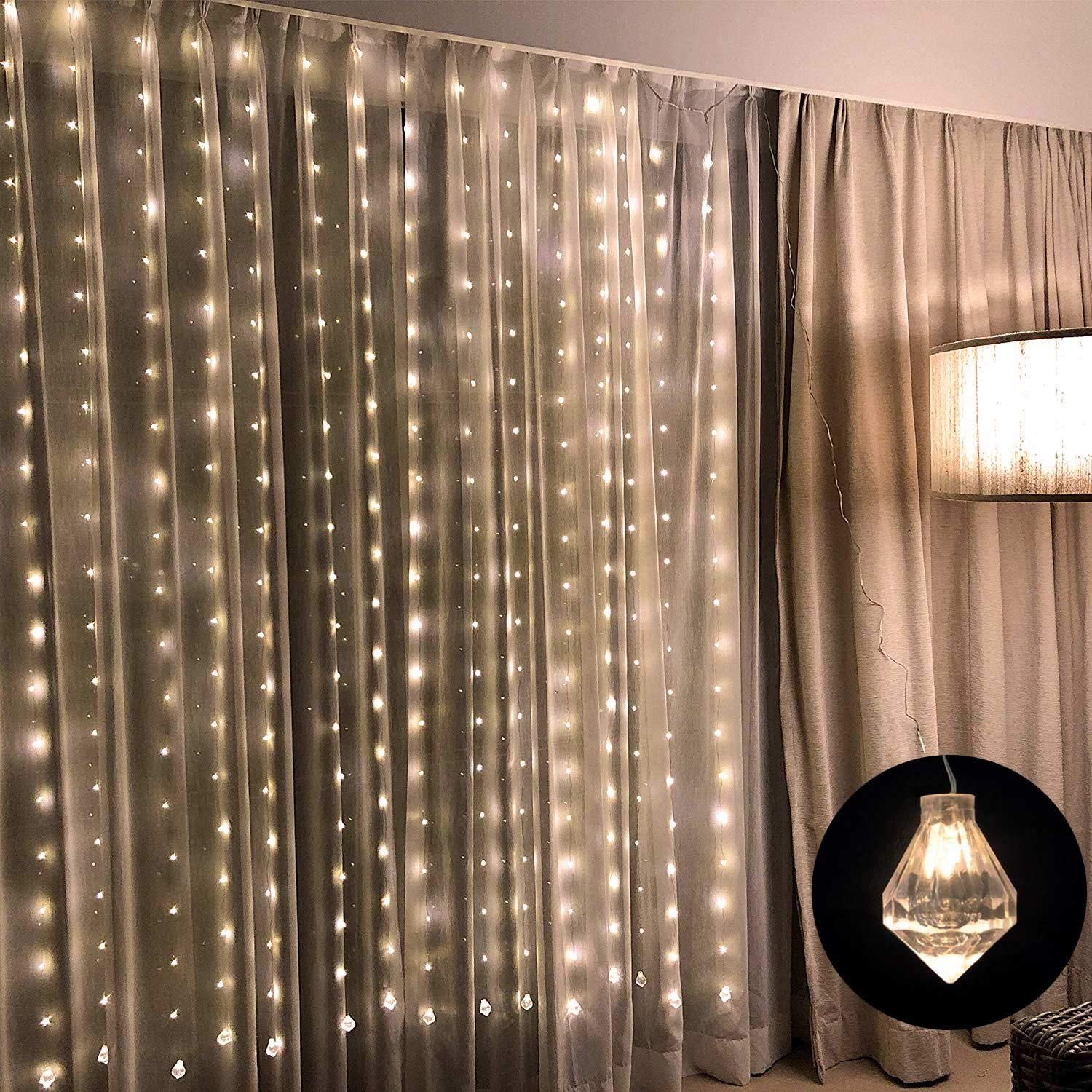 Linkind LED Curtain String Lights, Braided Copper Wire Fairy String Lights