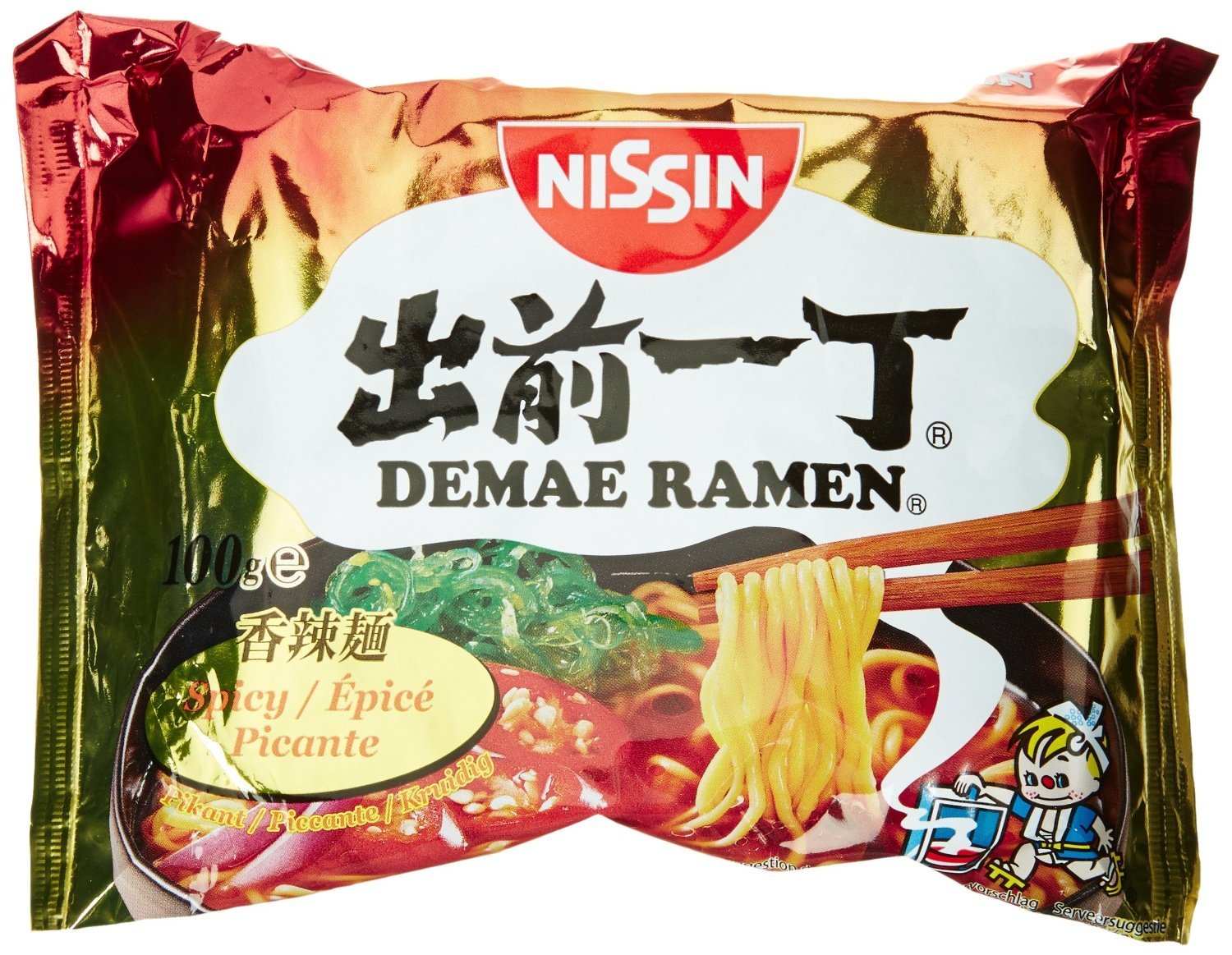 Nissin Demae Ramen Spicy Instant Noodles,  Pack of 30