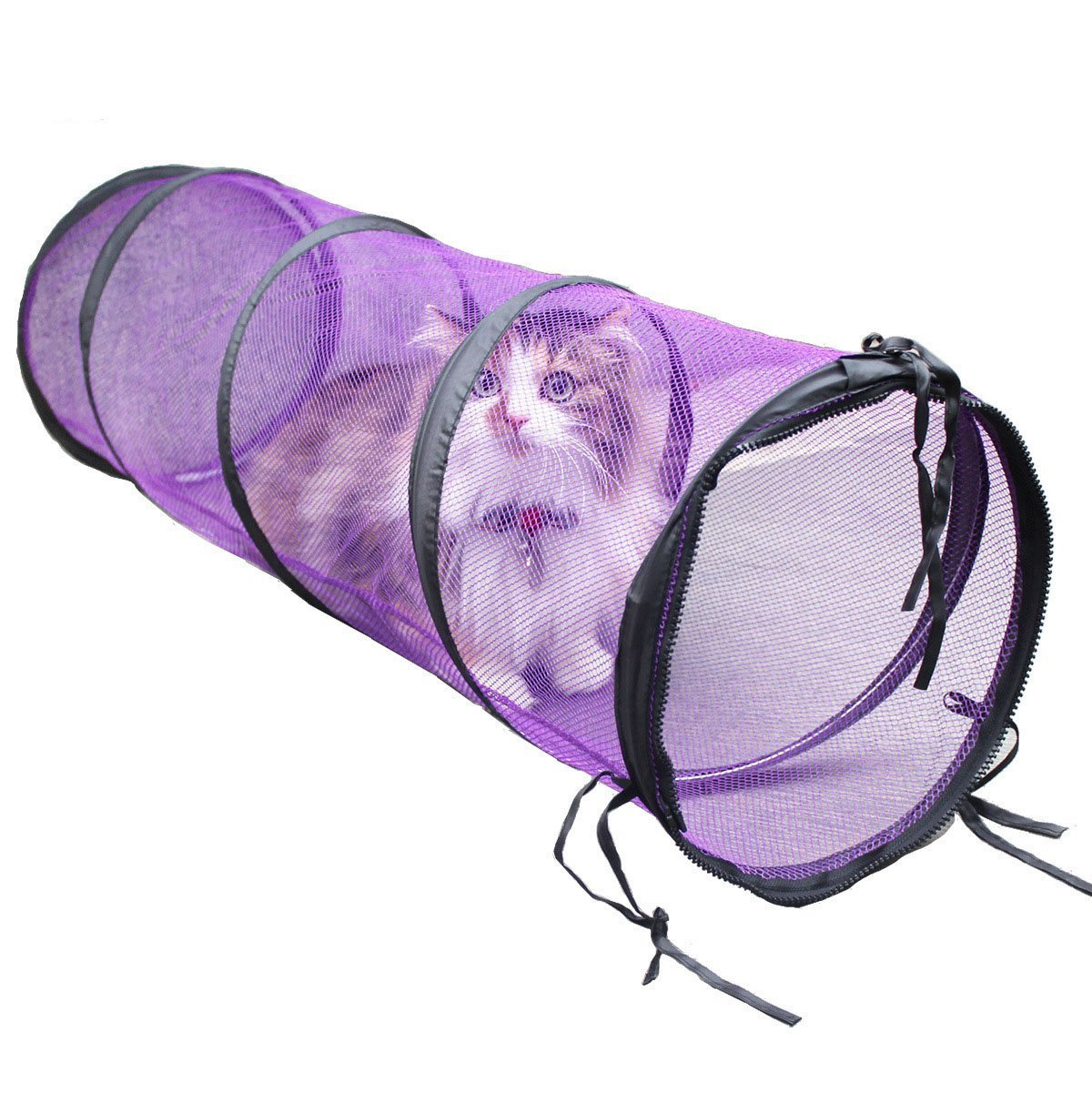 Yongqin Interactive Cats Toys Tunnel Collapsible See Through