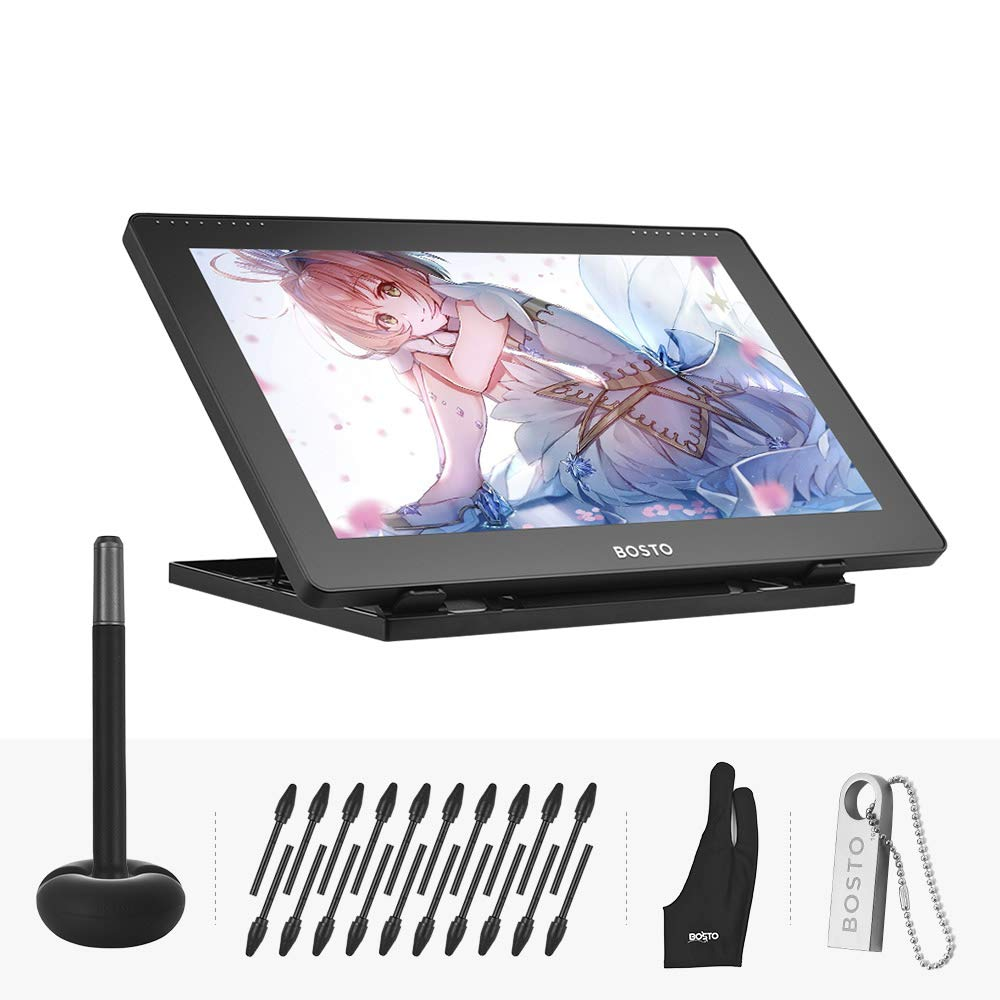 Aibecy BOSTO 16HD 15.6 Inch IPS Graphics Drawing Tablet