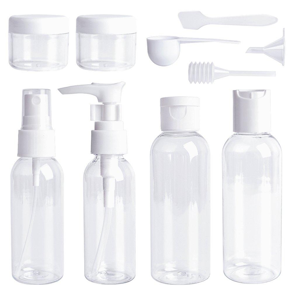 Travel Bottles Set 10 Pcs Air Travel Size Bottle Toiletries Liquid Containers