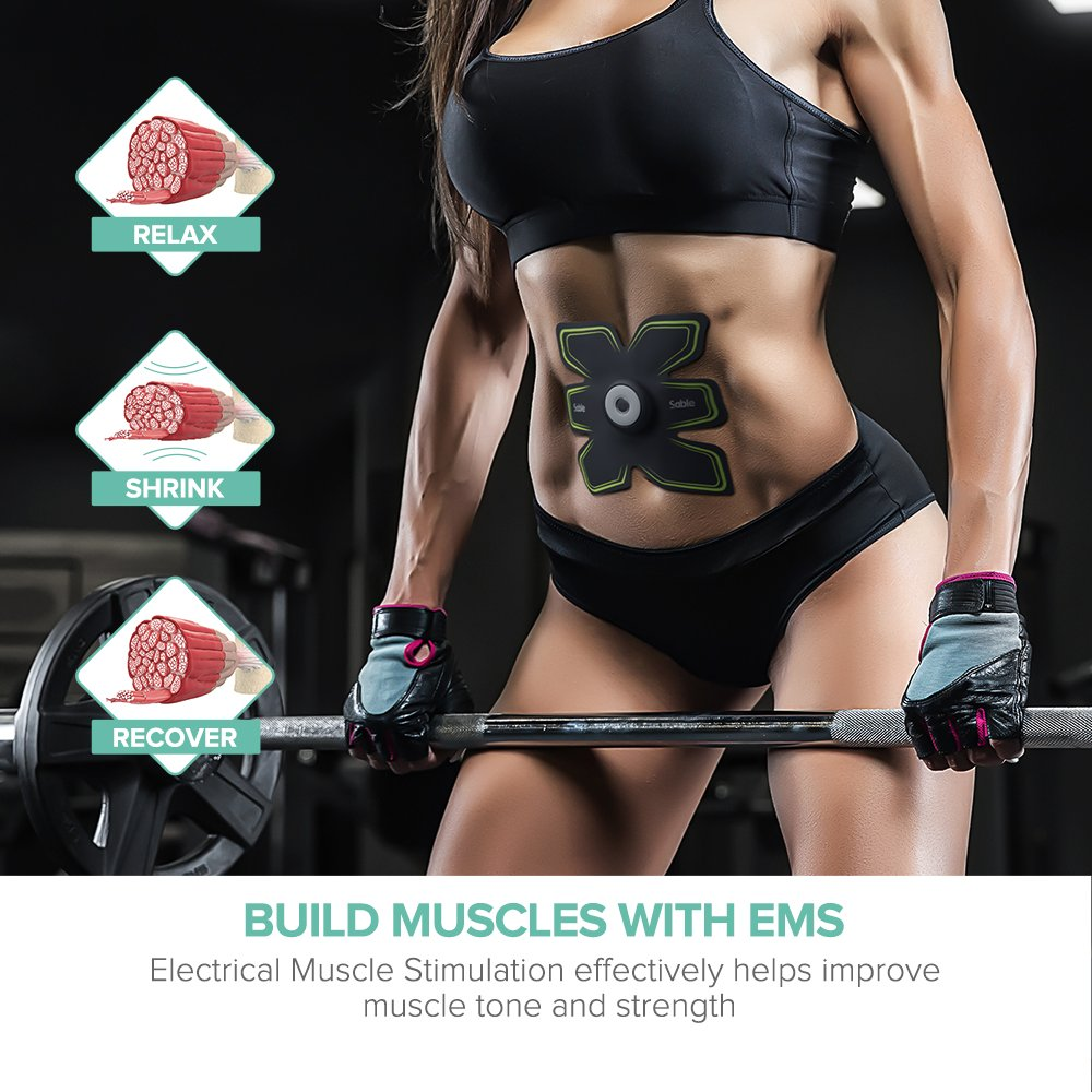 Sable Abdominal Muscle Toner with Remote Control