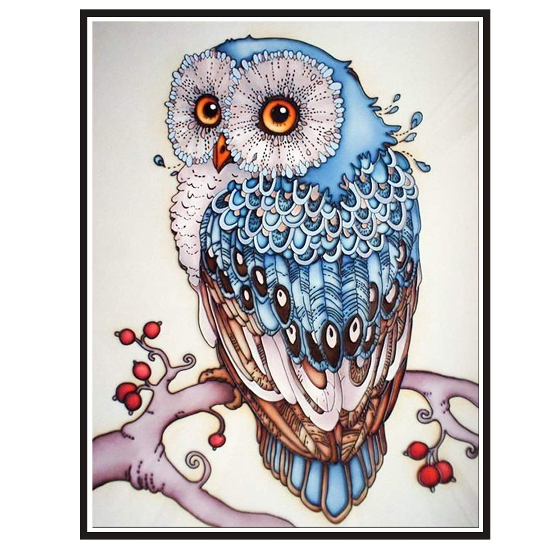 DIY Diamond Art of 5D Diamond Embroidery Owl Diamond Painting