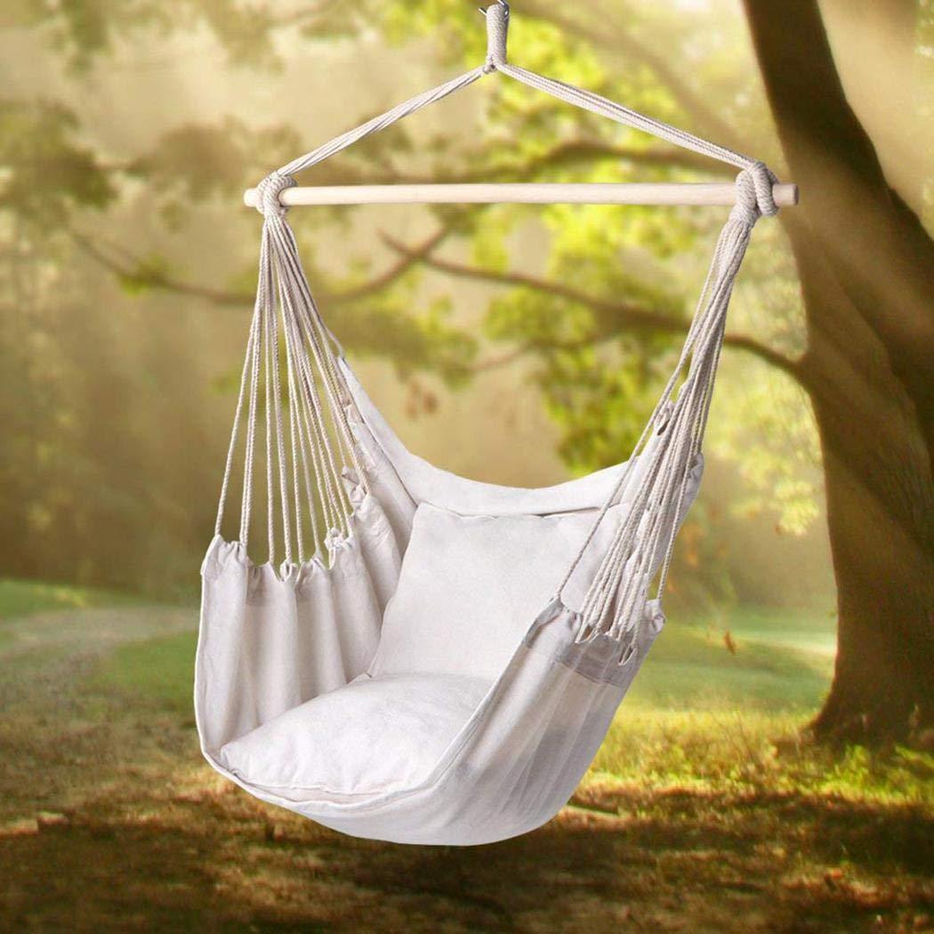 Qiopes Garden Hammock Chair Portable Travel Camping Hanging Hammock Swing Chair Hammocks
