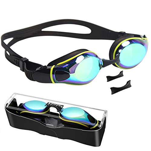 Aegend Swim Goggles, Flat Lens Swimming Goggles